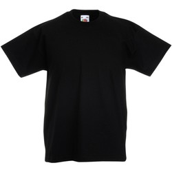 Textiel Kinderen T-shirts korte mouwen Fruit Of The Loom Original Zwart