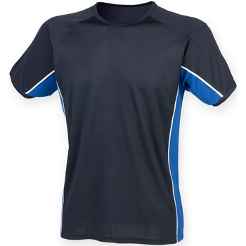 Textiel Heren T-shirts korte mouwen Finden & Hales Performance Marine / Koninklijk / Wit