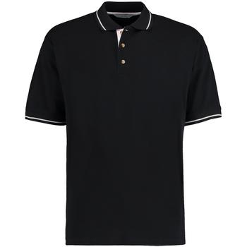 Textiel Heren Polo's korte mouwen Kustom Kit KK606 Zwart/Wit