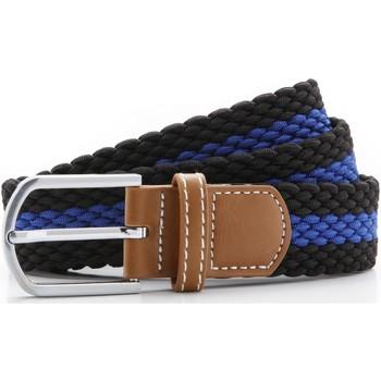 Accessoires Heren Riemen Asquith & Fox Two Colour Stripe Zwart/Loyaal
