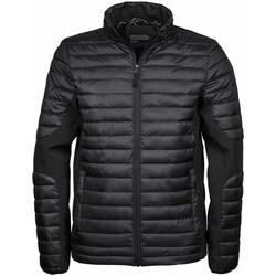 Textiel Heren Dons gevoerde jassen Tee Jays Crossover Zwart/Zwart