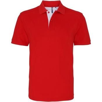 Textiel Heren Polo's korte mouwen Asquith & Fox Contrast Rood/wit