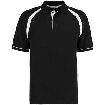 Textiel Heren Polo's korte mouwen Kustom Kit KK615 Zwart/Wit