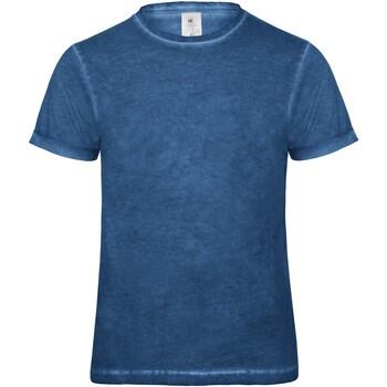 Textiel Heren T-shirts korte mouwen B And C BA801 Blauwe Clash