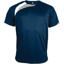 Textiel Heren T-shirts korte mouwen Kariban Proact Proact Marine / Wit / Stormgrijs