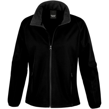 Textiel Dames Fleece Result Softshell Zwart / Zwart