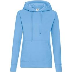 Textiel Dames Sweaters / Sweatshirts Fruit Of The Loom Hooded Hemel Blauw