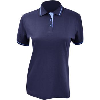 Textiel Dames Polo's korte mouwen Kustom Kit Mellion Marine / Lichtblauw