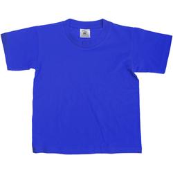 Textiel Kinderen T-shirts korte mouwen B And C Exact 150 Koninklijk