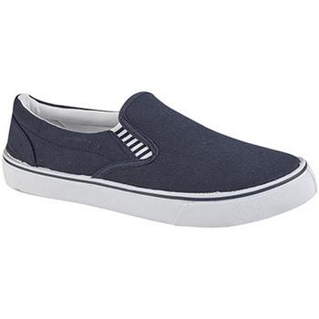 Schoenen Jongens Instappers Dek Gusset Marineblauw