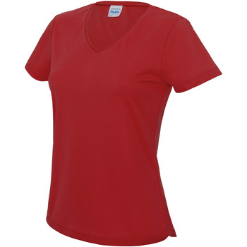 Textiel Dames T-shirts korte mouwen Awdis Girlie Vuurrood