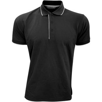 Textiel Heren Polo's korte mouwen Kustom Kit Essential Zwart/Wit