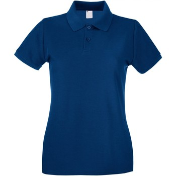 Textiel Dames Polo's korte mouwen Universal Textiles Casual Marineblauw