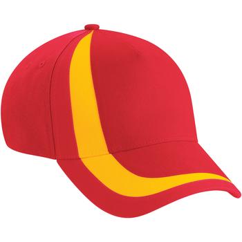 Accessoires Pet Beechfield Baseball Vlag rood/vlag geel
