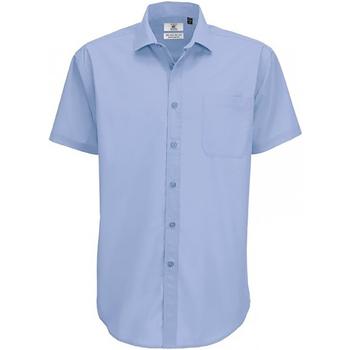 Textiel Heren Overhemden korte mouwen B And C SMP62 Business Blauw