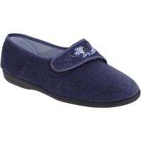 Schoenen Dames Sloffen Sleepers Embroidered Marineblauw
