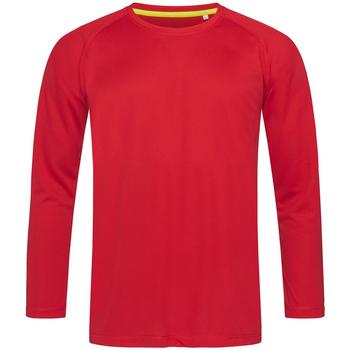 Textiel Heren T-shirts met lange mouwen Stedman  Rood