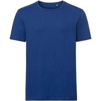 Textiel Heren T-shirts korte mouwen Russell Organic Helder Koninklijk