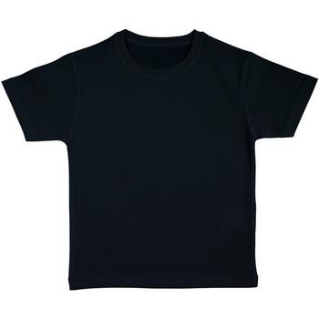Textiel Meisjes T-shirts korte mouwen Nakedshirt Organic Zwart