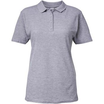 Textiel Dames Polo's korte mouwen Gildan Pique Sportgrijs
