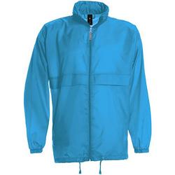 Textiel Heren Windjacken B And C Sirocco Blauw