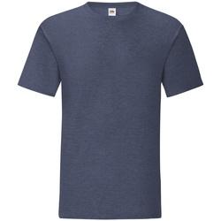Textiel Heren T-shirts korte mouwen Fruit Of The Loom Iconic Heather Marine
