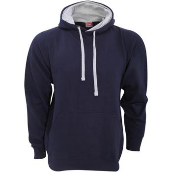 Textiel Heren Sweaters / Sweatshirts Fdm Contrast Marine / Heide Grijs