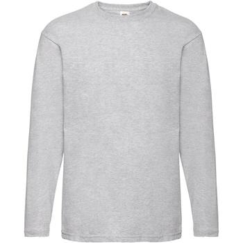 Textiel Heren T-shirts met lange mouwen Fruit Of The Loom Valueweight Heather Grijs