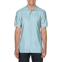 Textiel Heren Polo's korte mouwen Gildan Premium Chambray