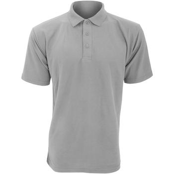 Textiel Heren Polo's korte mouwen Ultimate Clothing Collection UCC003 Heide Grijs