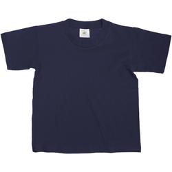 Textiel Kinderen T-shirts korte mouwen B And C Exact Marineblauw