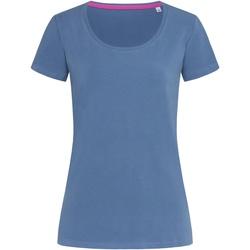 Textiel Dames T-shirts korte mouwen Stedman Stars Claire Denim Blauw