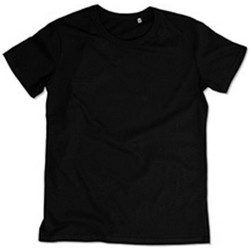 Textiel Heren T-shirts korte mouwen Stedman Stars Stars Zwart