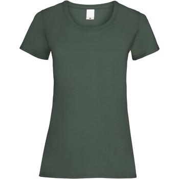 Textiel Dames T-shirts korte mouwen Universal Textiles Casual Donkergroen