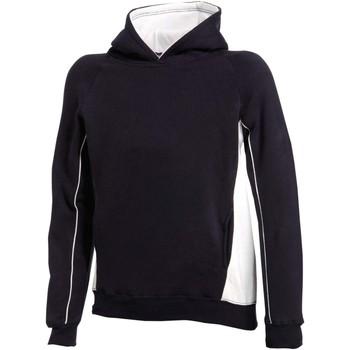 Textiel Kinderen Sweaters / Sweatshirts Finden & Hales Hooded Marine / Wit