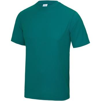 Textiel Heren T-shirts korte mouwen Just Cool Performance Jade