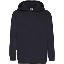 Textiel Kinderen Sweaters / Sweatshirts Fruit Of The Loom Hooded Donker Marine