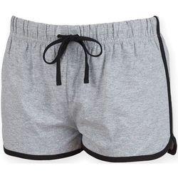Textiel Dames Korte broeken / Bermuda's Skinni Fit SK069 Heide Grijs / Zwart