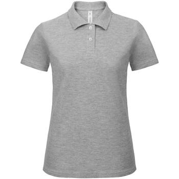 Textiel Dames Polo's korte mouwen B And C ID.001 Heide Grijs
