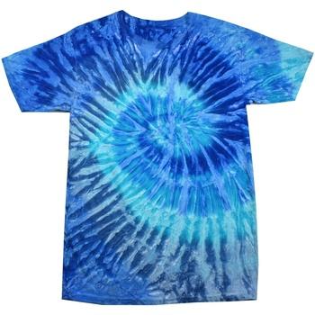 Textiel Dames T-shirts korte mouwen Colortone Rainbow Blauwe Jerry