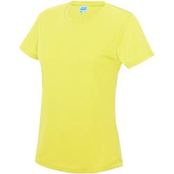 Textiel Dames T-shirts korte mouwen Just Cool JC005 Elektrisch Geel