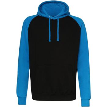 Textiel Heren Sweaters / Sweatshirts Awdis Hooded Straalzwart / saffierblauw