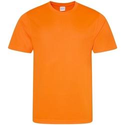 Textiel Heren T-shirts korte mouwen Awdis Performance Elektrisch Oranje
