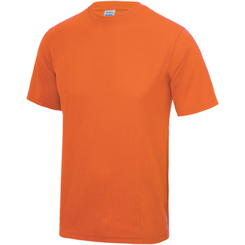 Textiel Heren T-shirts korte mouwen Just Cool Performance Elektrisch Oranje