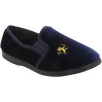 Schoenen Jongens Babyslofjes Sleepers Gusset Marineblauw