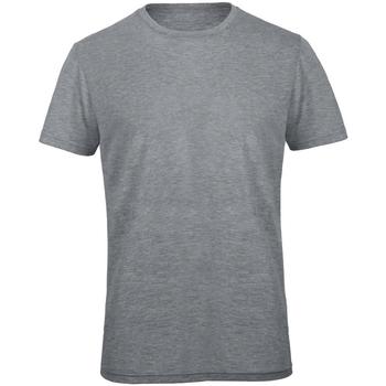 Textiel Heren T-shirts korte mouwen B And C TM055 Heide Lichtgrijs