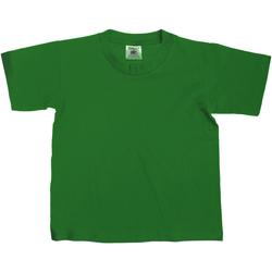 Textiel Kinderen T-shirts korte mouwen B And C Exact 150 Fles groen