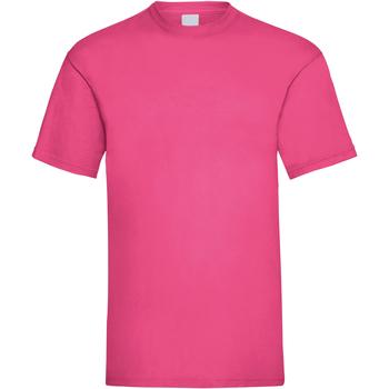Textiel Heren T-shirts korte mouwen Universal Textiles 61036 Heet Roze