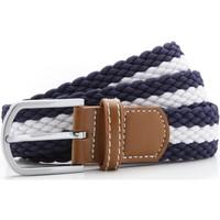 Accessoires Heren Riemen Asquith & Fox Two Colour Stripe Marine / Wit
