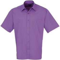 Textiel Heren Overhemden korte mouwen Premier Poplin Rijke Violet